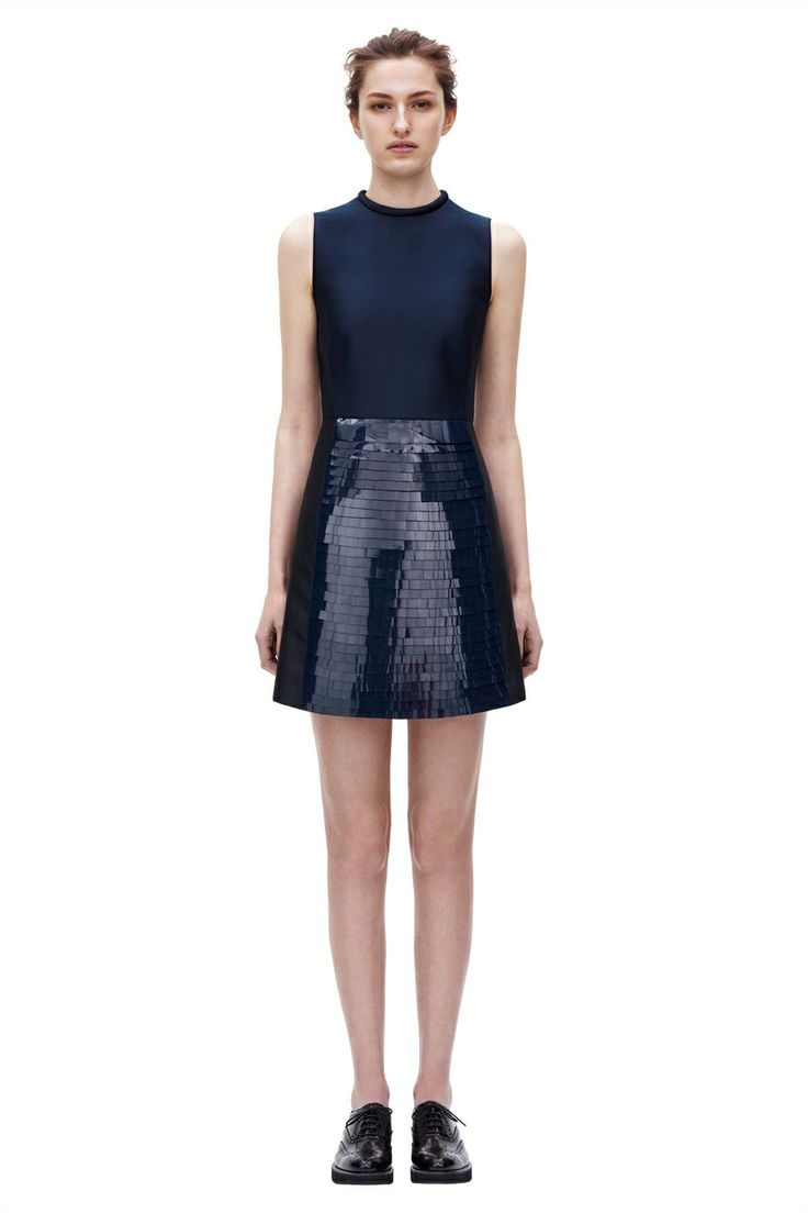 Gloss Sequin Panel Dress from Pre Autumn Winter 2014 Victoria, Victoria Beckham collection. #BoFCareers #style #aoutfit #luxury #VictoriaBeckham