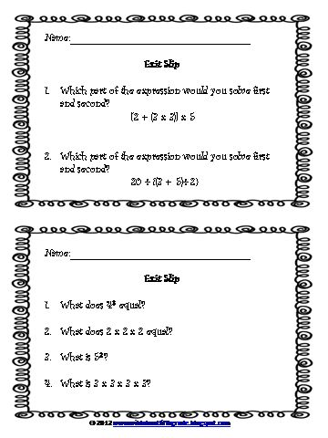 Wild about fifth grade: Math Workshop - Order of Operations and Writing Simple Expressions