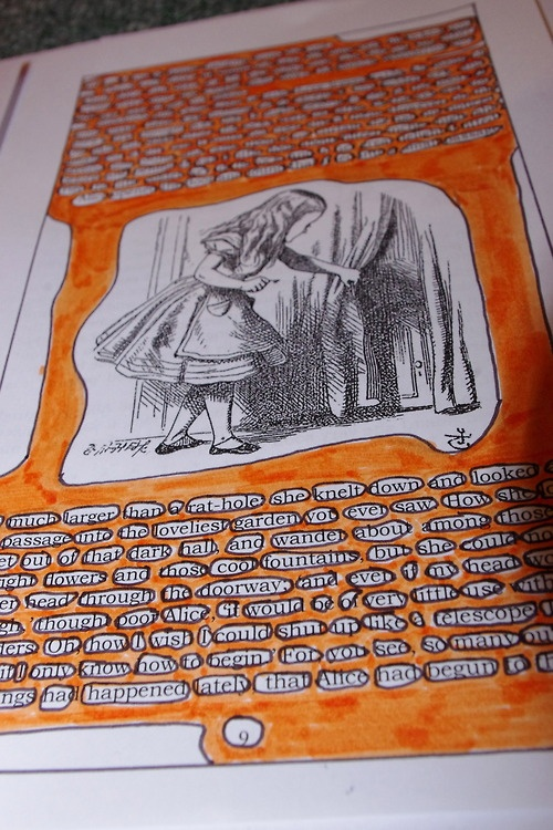 "A common symptom of dyslexia is ""rivers"" of text. Spaces create lines down the page, shown here in orange."