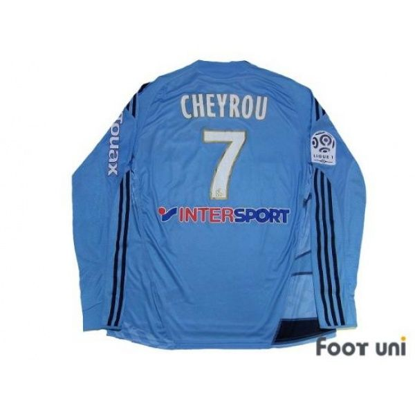 Photo2: Olympique Marseille 2009-2010 Away Players L/S Shirt #7 Cheyrou Ligue 1 Patch/Badge w/tags adidas - Football Shirts,Soccer Jerseys,Vintage Classic Retro - Online Store From Footuni Japan