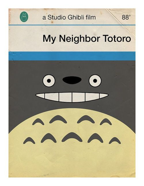 Inspiration: Needlepoint the lower 2/3rds...    Japanese Movies Imagined As Penguin Book Covers - DesignTAXI.com