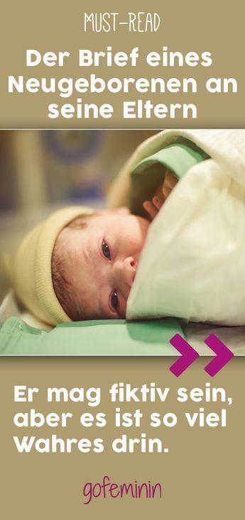 Diesen Brief eines Neugeborenen an seine Eltern müsst ihr lesen! – Zitate.. Sprüche… Lebensweisheiten!!!!!
