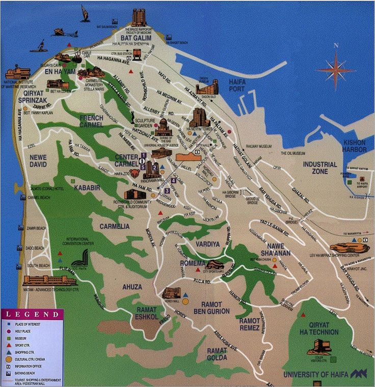 Political Map Of Senegal%0A Haifa Tourist Map  Haifa Israel  u     mappery