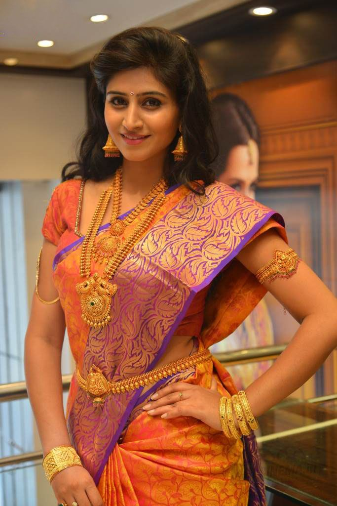 Indian traditional saree and jewels- shared by Suppa sri