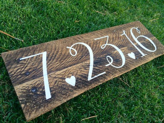 Save the Date Rustic Wood Sign Engagement by SignsfromthePines