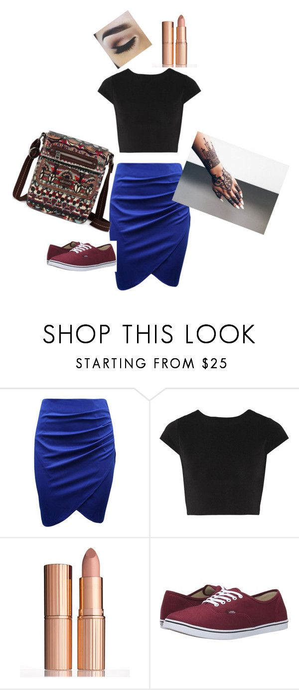 """""""Casual Plus Size Outfit"""" by migalowa on Polyvore featuring Alice + Olivia, Charlotte Tilbury, Vans, Sakroots, women's clothing, women's fashion, women, female, woman and misses"""