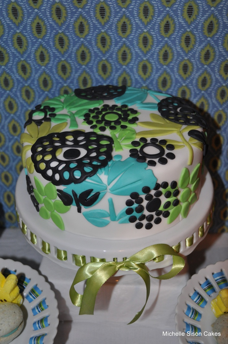 Vera bradley shower curtain - Vera Bradley Inspired Cake