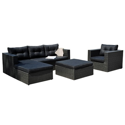 "Outdoor Savannah 4 Piece Sectional     Description  Ottoman 31.5"" x 31.5"" and 16"" high  Chair 32.5"" x 32.5"", height 25"" and seat height 16""    Lounge seat 63"" long, 25"" high, seat height 16"" and 30.5"" wide    Two seater 54"" long, 25"" high, seat height 16"" and 21.5"" wide.    was $2779.99 now $1389.99"