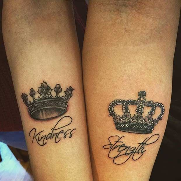 51 King And Queen Tattoos For Couples Tattoos Pinterest