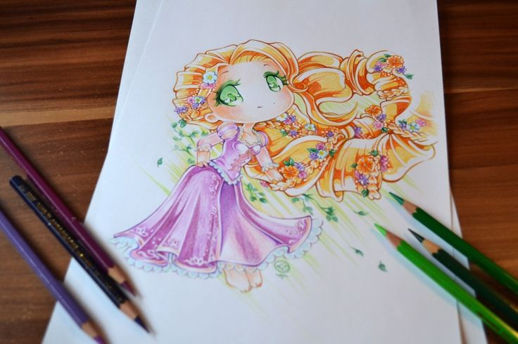 I just love that braid!! From the first time I saw it I needed to draw it xDSo here is my new version of Rapunzel! (The old one was kind of scary xD)