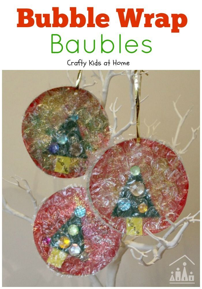 Decorate your Christmas Tree with out brilliant Bubble Wrap Baubles. We added a Christmas Tree, but you could add a Snowman, Santa, a reindeer or whatever else your child wants to add.