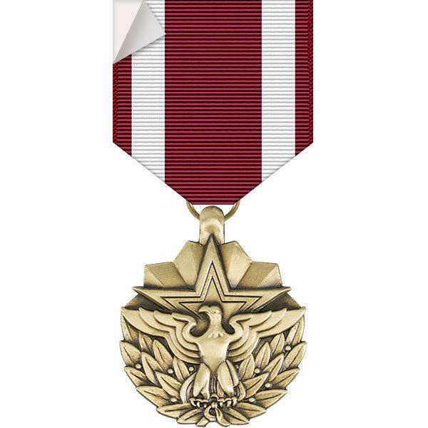 Meritorious service medal sticker