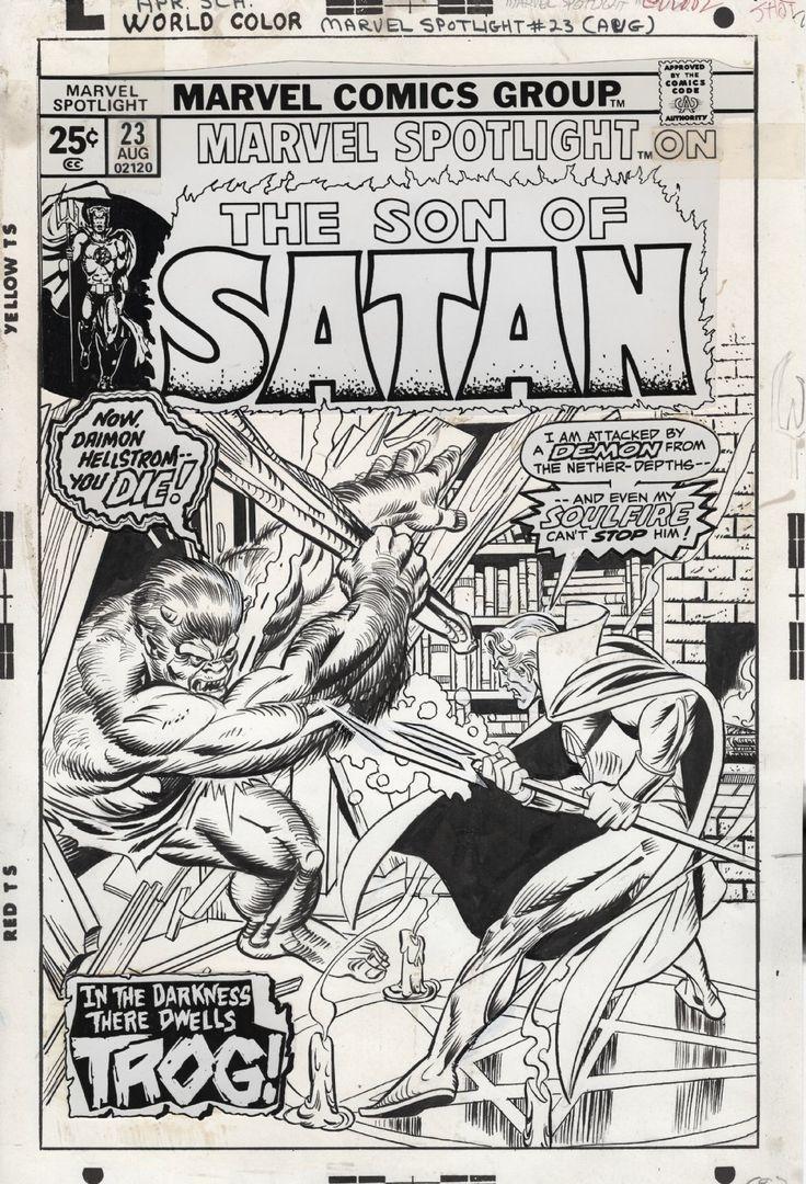 Original cover art by Gil Kane for Marvel Spotlight #23, August 1975.