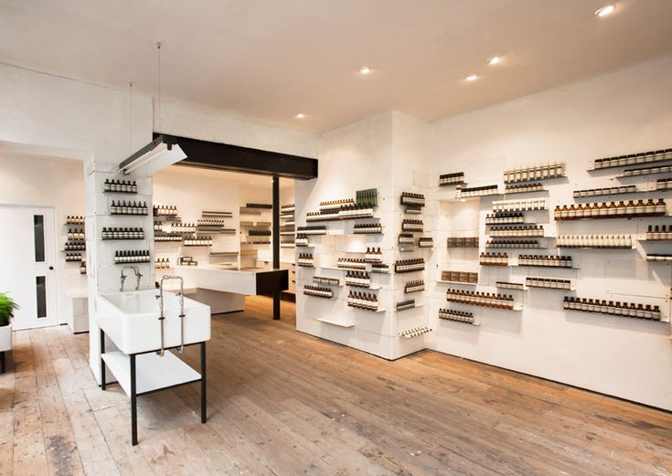 Aesop Soho shop in London. Less is more