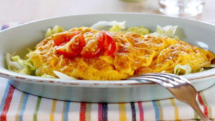 MatPrat - Omelett med kalkun og salsa