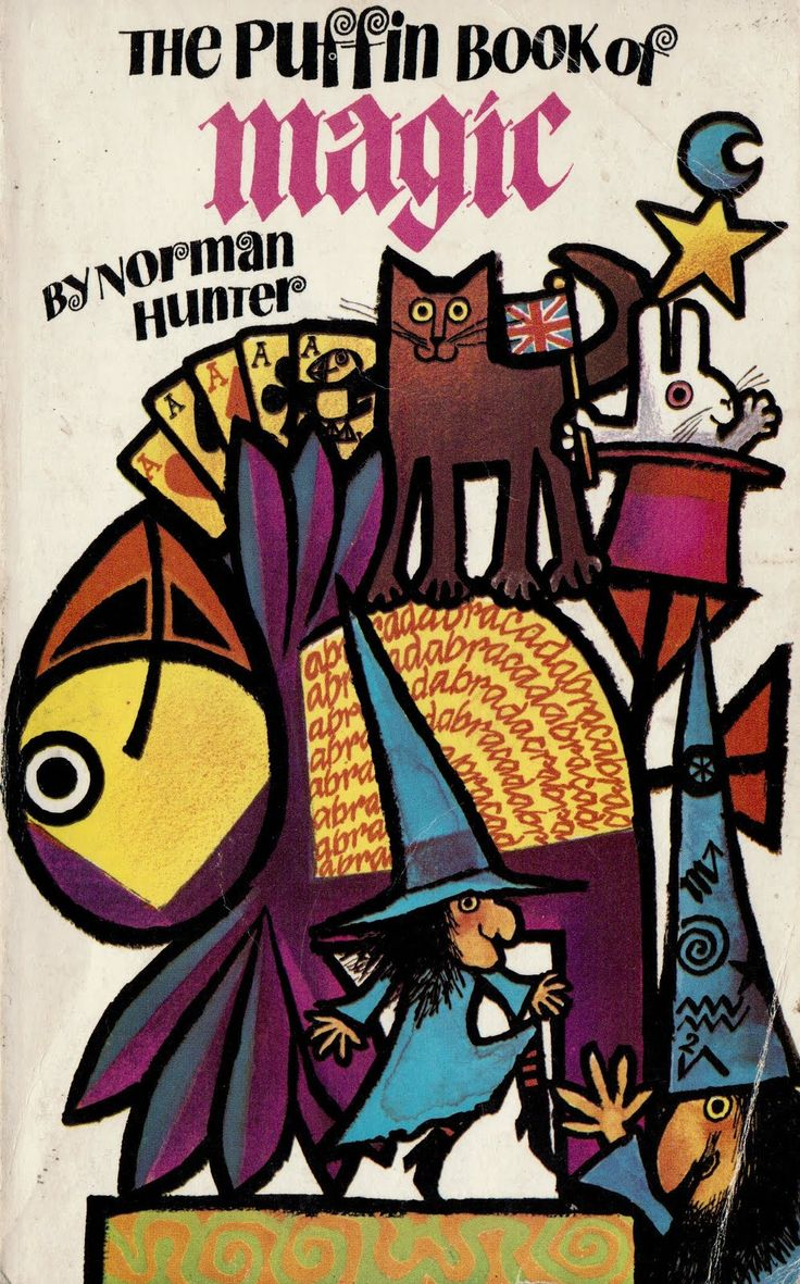 norman hunter - the puffin book of magic, 1970, with cover art by jill mcdonald