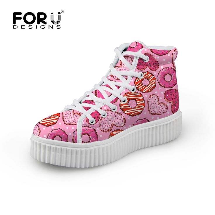 2016 High Top Spring Plataforma Shoes Girls Pink Color Women Shoe Zapatos Mujer Women Wedge Platform Shoe Lace Up Casual Shoes