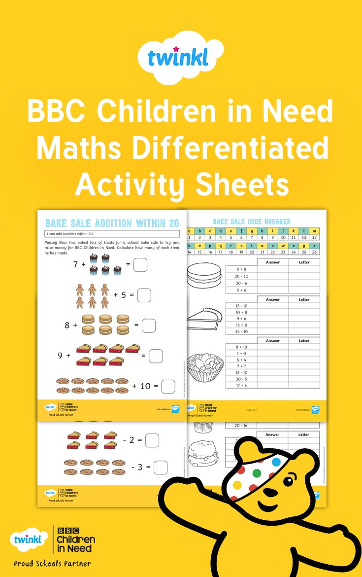 Engaging Differentiated And Challenging These Topical Bbc Children In Need Maths Activi Children In Need Differentiation Activities Addition And Subtraction Challenging addition and subtraction