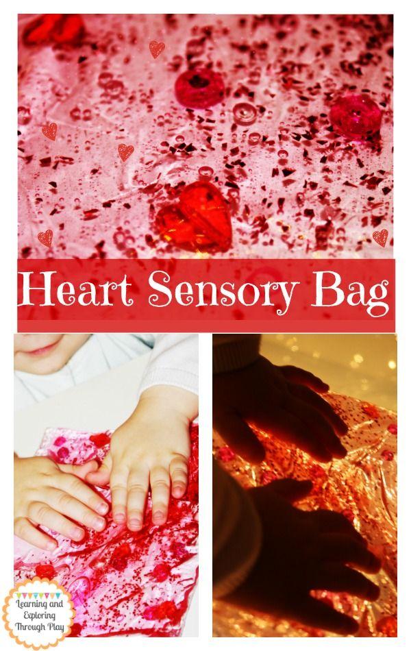 Heart Sensory Bag Valentines Day Activities For Children