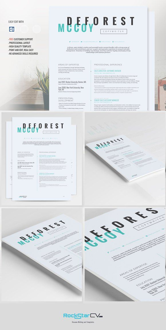 Resume Template - Perseus by Resume Templates on @creativemarket