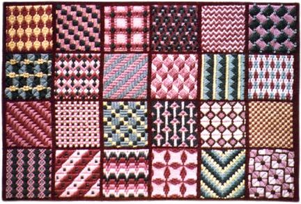 Needlepoint Pattern Series 2: Click on the patterns in the quilt sampler on site to see a close up of each.