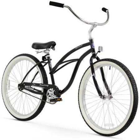 26 inch Firmstrong Urban Lady Single Speed Women's Beach Cruiser Bike, Black
