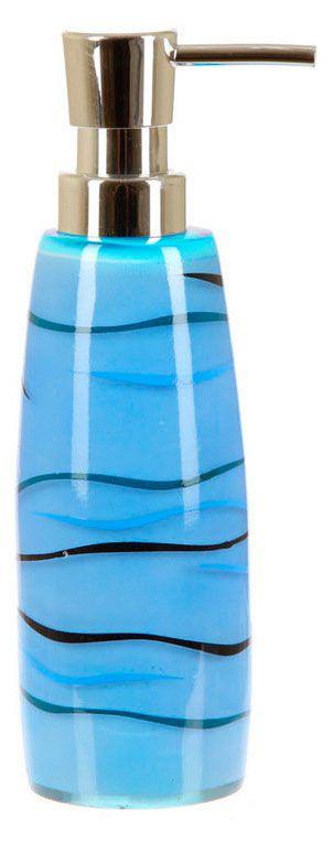 Дозатор для жидкого мыла Patara, полимер, синий с черным, 6 х 6 х 20 см