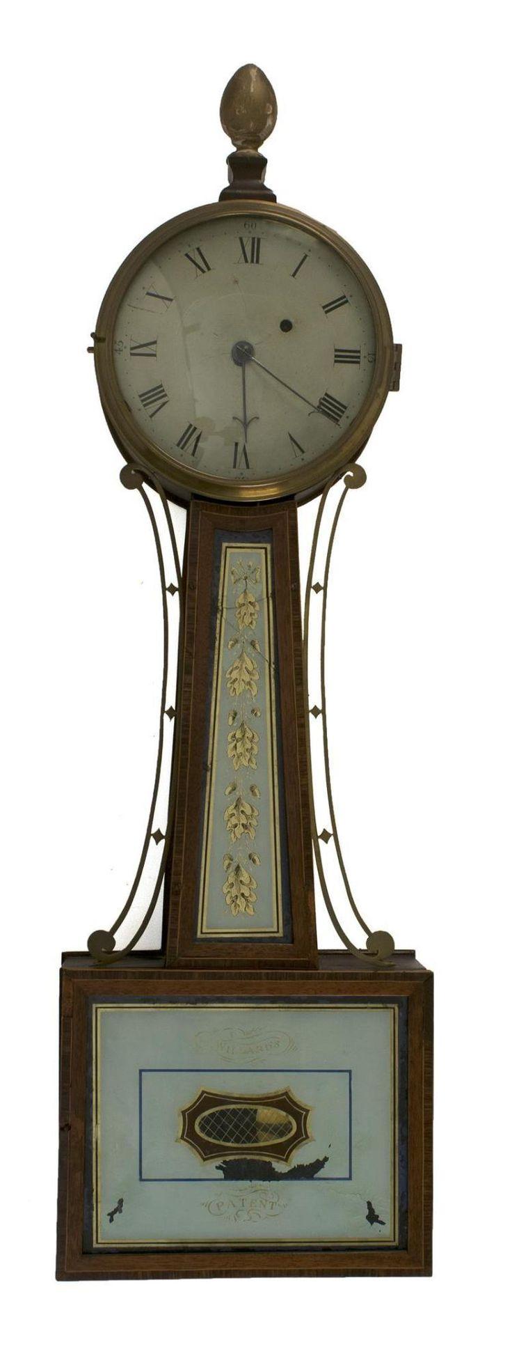 281 best antique clocks banjo images on pinterest auction simon willard patent banjo clock first quarter of the 19th century amipublicfo Images