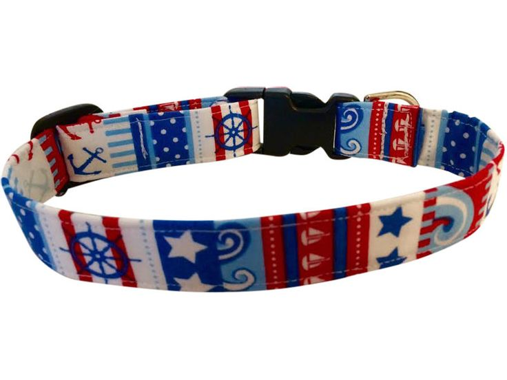 SPIFFY POOCHES Dog Collar BOATING SAILING NAUTICAL TROPICAL Dogs Collars  #SPIFFYPOOCHES
