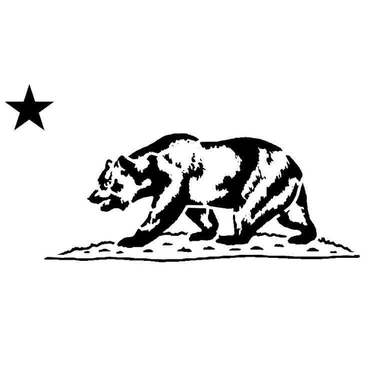 California Bear State Flag Stencil | SP Stencils