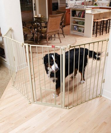 Another great find on #zulily! Beige Configurable Extra-Tall Pet Gate #zulilyfinds  $64.99   For Rick's house.