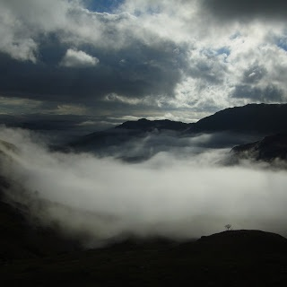 Come walk with me.........Cloud inversion from the slopes of the Pike of Stickle in the Lake District