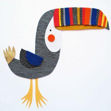Encantadores nos han parecido los collages de Pouch handmade, hechos con telas y fieltros, incluso personalizados con el nombre del destinatario de este elemento decorativo para cualquier bonita habitación que se precie. Los hacen en Australia.