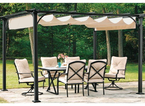 Here is a great way to create a private space to host intimate outdoor gatherings and to simply enjoy your yard in solitude. Whether it is to stop those nosy neighbors from eavesdropping on your private space or to block the bright rays of a low hanging sun. This Replacement Canopy for Summer House Pergola will do the trick every time. Get away to your very own private backyard hideaway. Now you can create an intimate setting in your own backyard.