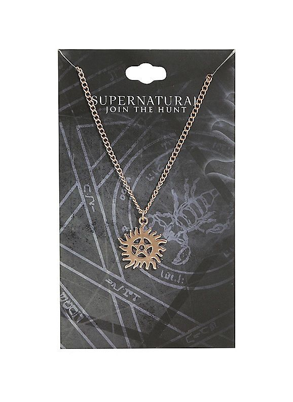 Hot Topic : Supernatural Anti-Possession Symbol Dainty Rose Gold Necklace