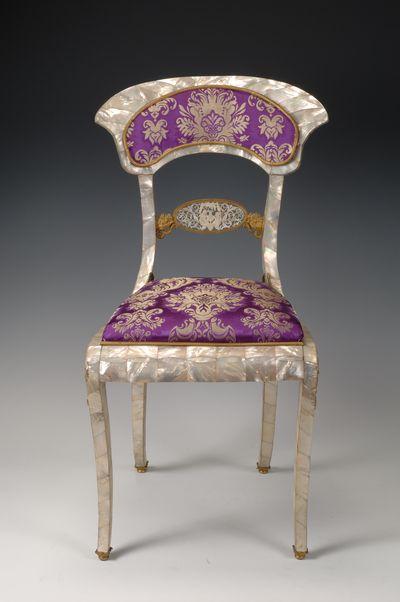 Occasional Chair, Johann Tanzwhol, Austria, ca. 1820. Owned by Doris Duke.