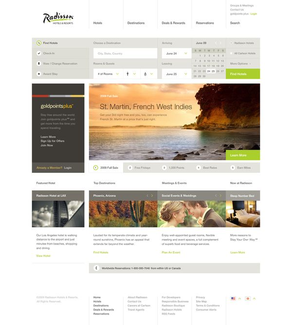 Carlson Hotels Web Sites by Andy Gugel, via Behance