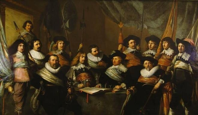 Pieter Claesz. Soutman, Officers and Sub-Alterns of the Calivermens Civic Guard, 1642. Frans Hals Museum #haarlem #franshalsmuseum @Frans Hals Museum #art #power