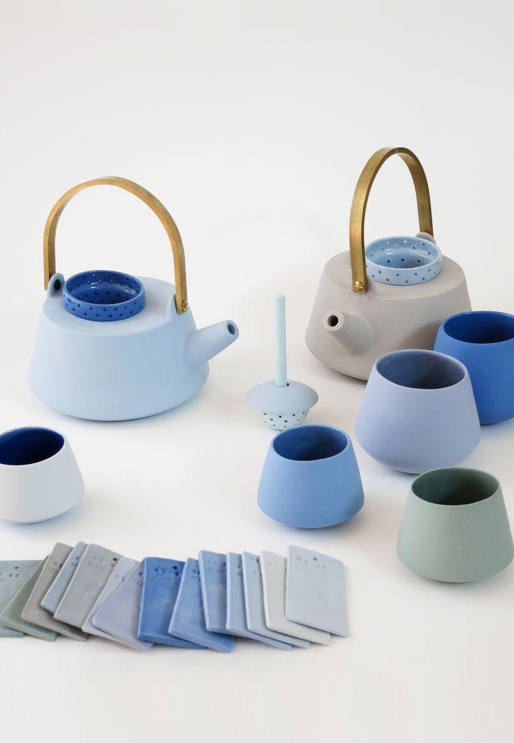 #blauwe #keramiek #porselein #theepot #mok #kopje #groen
