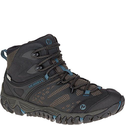 Merrell Women's All Out Blaze Vent Mid Waterproof Hiking Boot, Black, 7.5 M  US