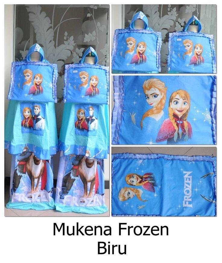 Mukena anak Frozen Biru Umur 2-12 Tahun - http://keikidscorner.com/baju-anak-perempuan/baju-muslim/mukena-anak-frozen-biru-umur-2-12-tahun.html