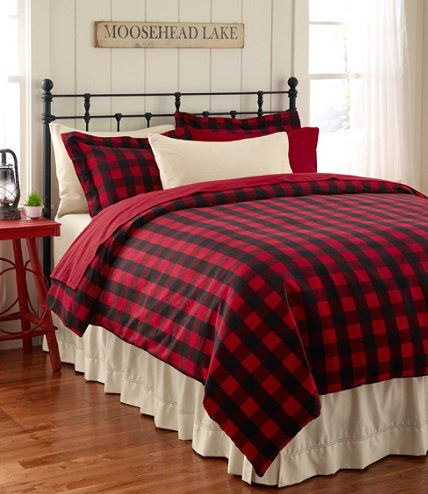red buffalo plaid twin single quilt set lodge cabin check comforter