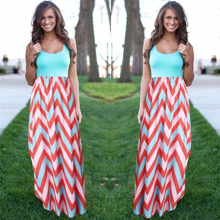 Frauen Sommer Strand Boho Maxi Kleid 2016 Hohe Qualität Marke Striped Print Lange Kleider Feminine Plus Größe