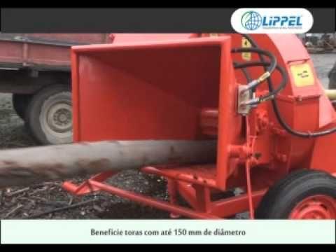Triturador de Galhos e Picador de Madeira Florestal Lippel PDF 150 HDR