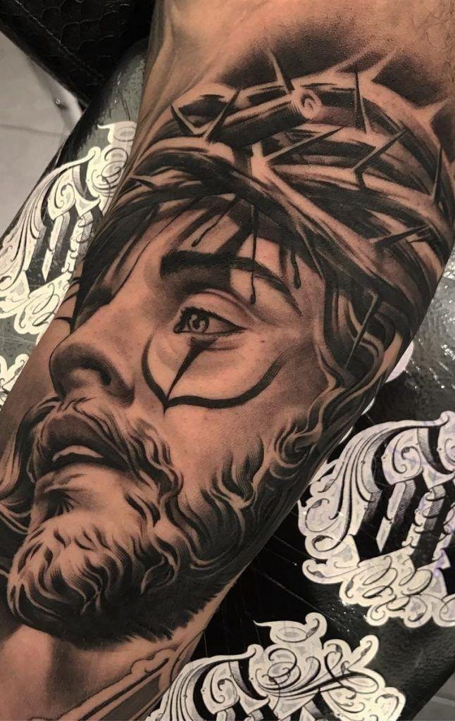 Tatuagens Religiosas Confira As 80 Melhores Inspiracoes Neck Tattoo For Guys Heaven Tattoos Forearm Tattoo Men