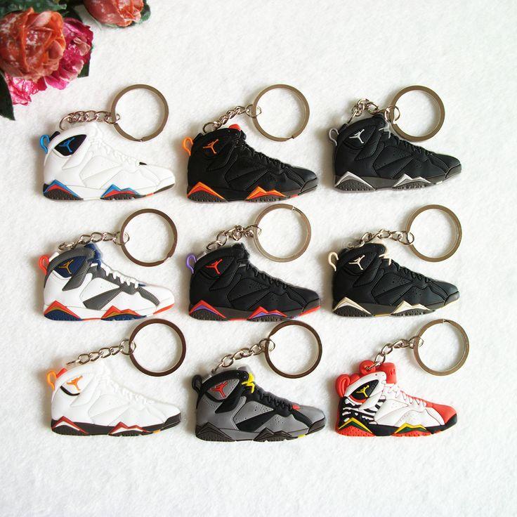 Jordan 7 Catena Chiave, scarpa da tennis Portachiavi Chiave Della Catena Chiave Anello Portachiavi per Donna e Ragazza Regali di Porte Clef