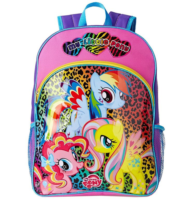 My Little Pony Friends Animal Print 16 Large Backpack School Book Bag