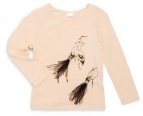 Billieblush Toddler's, Little Girl's & Girl's Long Sleeve Bird Shirt