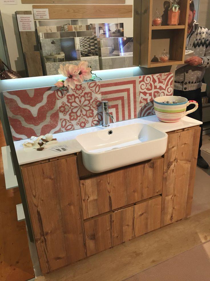 armadietti dispensa per bagno lavandino con mobiletto in legno