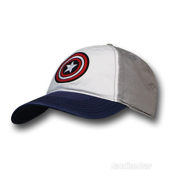 captain america red blue 39thirty baseball cap winter soldier white gray buckle closure hat